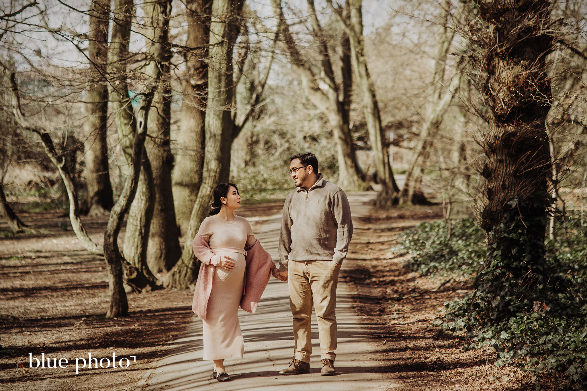 Difa and her maternity session in East Finchley, Cherry Tree Wood Park, North London