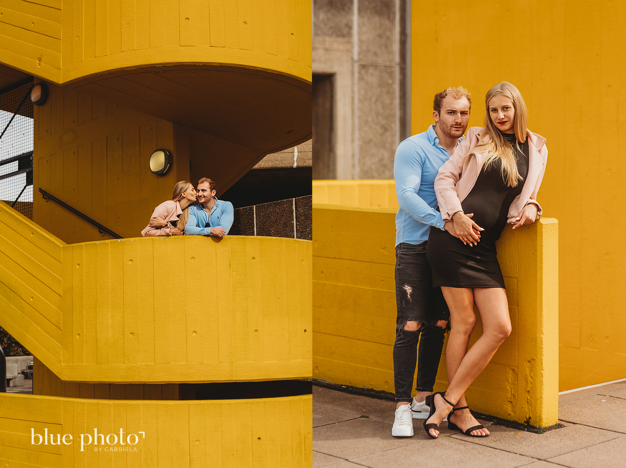 Angelika and Wojtek during their maternity session in South Bank, Central London.